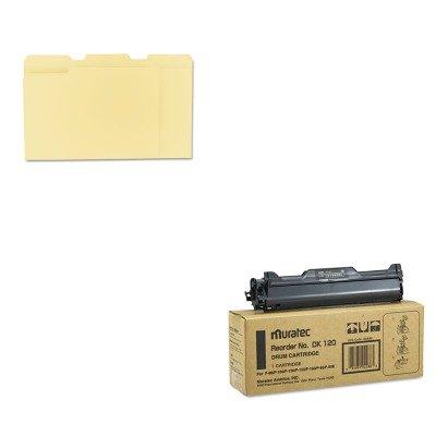 Muratec Inkjet Printer Ink (KITMURDK120UNV12113 - Value Kit - Muratec DK120 Drum (MURDK120) and Universal File Folders (UNV12113))