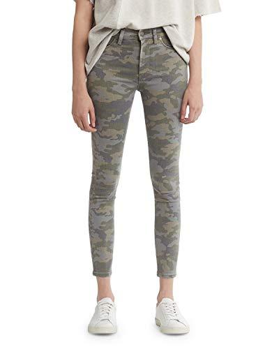 Hudson Jeans Women's Barbara HIGH Waist Super Skinny Ankle 5 Pocket Jean, Deployed camo, 27