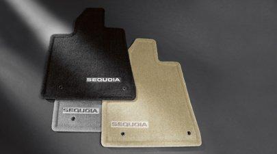 (TOYOTA Genuine Accessories PT926-0C084-11 Gray Carpet Floor Mat for Select Sequoia Models)