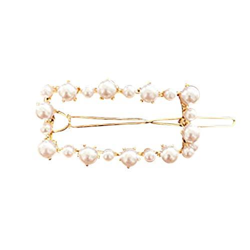 (INS Women Cute Girl Pearl Bead Barrette Hair Clip Hairpin Hair Accessories Gift)