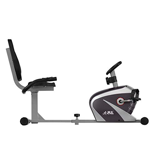 JLL RE100 Recumbent Home Exercise Bike. 5kg Two-Way Flywheel with 8 Levels of Magnetic Resistance. 6 - Levels of Seat Adjustments, Monitor Displays Speed, Distance, Time, Calories and Pulse. 12 - Months Warranty.