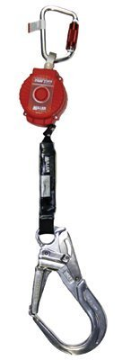 Miller by Honeywell MFL-12/6FT TurboLite Personal Fall Limiter with Aluminum Twist-Lock Carabiner and Locking Rebar Hook
