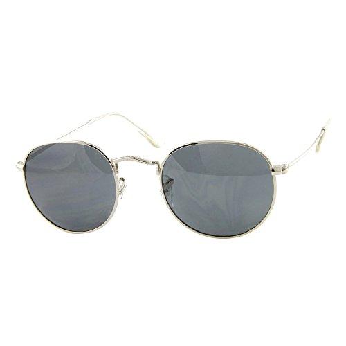 Roxx- Retro Round Silver Light Weight Wire Rimmed - Sunglasses Stunna