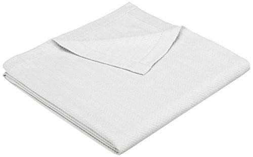 Pinzon Egyptian Cotton Herringbone Blanket - Full/Queen, Cream