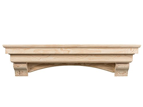 "Salem 72"" Unfinished Fireplace Mantel Shelf"