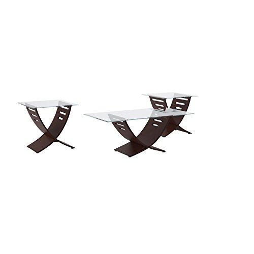 Buy glass coffee tables 3 piece set