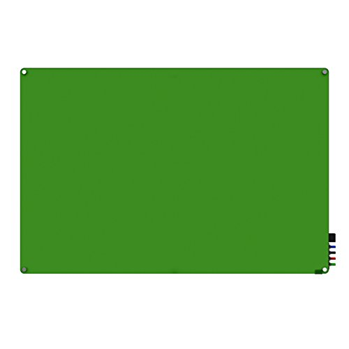 Ghent 2' x 3' Harmony Magnetic Glass Board, Colors - Radi...