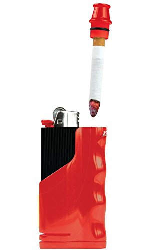 snub-one-cigarette-snubber-and-lighter-holder-with-built-in-odor-absorbing-filter-red
