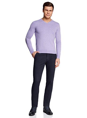 Bleu Coton Homme En Chino Oodji Pantalon 7900n Ultra ng7UHq1