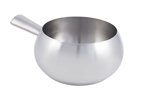 Bon Chef 5150SS Stainless Steel Induction Bottom Fondue Pot with Tapered Handle, 6