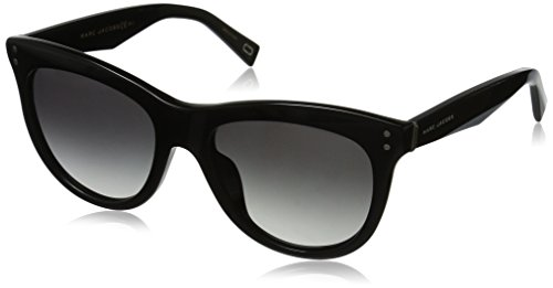 Marc Jacobs Women's Marc118s Square Sunglasses, BLACK/DARK GRAY GRADIENT, 54 -