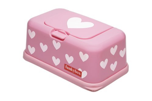 ee7094e53a2 FunkyBox Easy Wipe Dispenser Box Pink white Hearts by Funky box - Buy Online  in Oman. | Baby Product Products in Oman - See Prices, Reviews and Free ...