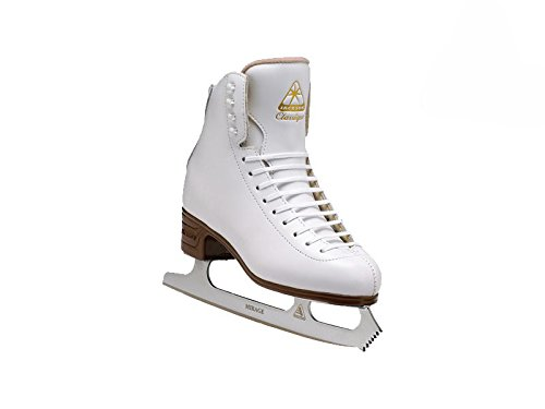 Jackson JS1991 Classique Misses Ice Skates White Entry Level Figure Skating (C, 3.5) by Jackson