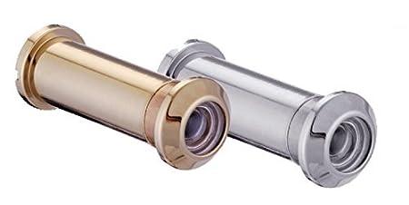 ToniTec T/ürspion Spion f/ür 35-60 mm T/ürbl/ätter Weitwinkel Messing PVD Gold Poliert