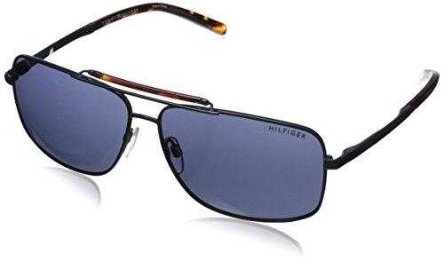 Tommy Hilfiger Women's THS OM158 Rectangular Sunglasses, Navy & Tortoise, 63 - Polarized Hilfiger Tommy Sunglasses