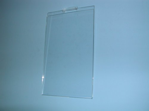 11''H X 8-1/2''W PLEXI CARDHOLDER FOR SLATWALL VERTICAL-CLEAR-Lot of 24 by OEM