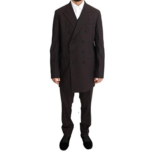 Suit Wool Bordeaux Gabbana 3 amp; Piece Stretch Long Dolce ZqT6OnR