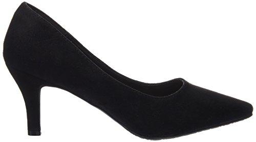 XTI Sra. Antelina Negro, Zapatos de Tacón con Punta Cerrada para Mujer Negro (NEGRO)