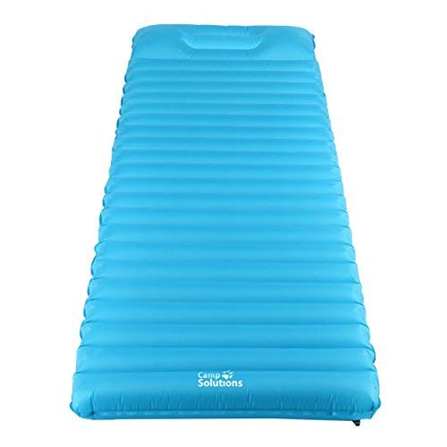 Camp Solutions Ultralight Sleeping Pad - 3.5'' Thick Lightweight Air Mattress with Built in Pillow for Camping, Hiking and Backpacking [並行輸入品] B07R4WYTLC