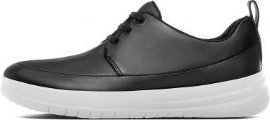 FitFlop Women's Sporty-Pop Sneaker,Black Leather,US 7 M