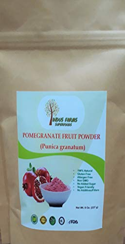 100% Pure Pomegranate fruit Powder, 8 oz, Eco-friendly pouch, Air tight & Resealable (Health Benefits Of Pomegranate Juice Pom Wonderful)