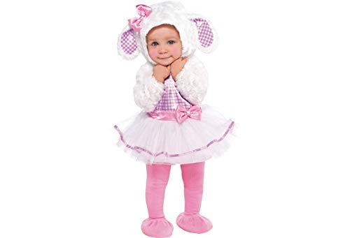 Amscan 846788 Baby Little Lamb Costume, 12-24 Months, Pink/White -