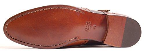 Antica Calzoleria Scarpe Campana | Mod. 10167 | Shoe Monaco | Vitello | Marrone (bicolore) Marrone (bicolore)