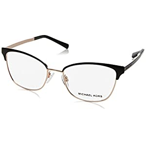 Michael Kors ADRIANNA IV MK3012 Eyeglass Frames 1113-51 – Black/rose Gold
