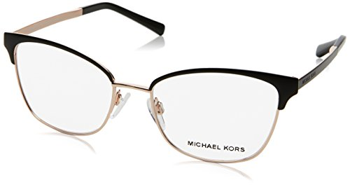 Michael Kors ADRIANNA IV MK3012 Eyeglass Frames 1113-51 - Black/rose - Kors Eye Michael Cat Eyeglasses