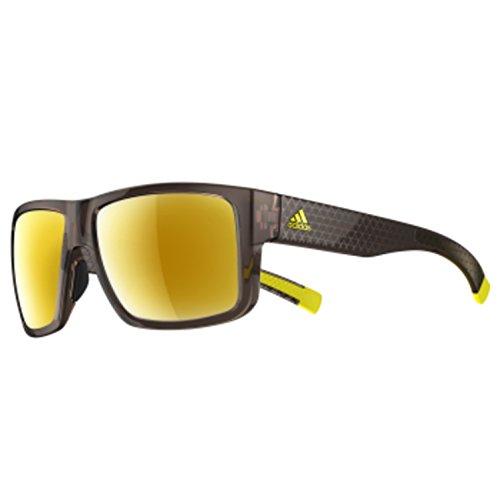 adidas Men's Matic A426 6056 Non-Polarized Rectangular Sunglasses, Brown Shiny Triax, 59 -