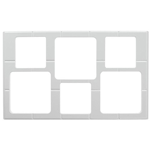 Cold Food Bar Tile Tray With Cut-Out For Garnish Bowls Full Size White Melamine - 21'' L x 12 3/4 W by Hubert