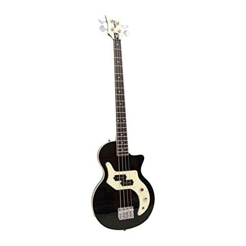 Orange O-Bass 4-String Electric Bass Guitar with Bag, Black