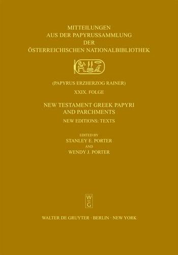 New Testament Greek Papyri and Parchments (Mitteilungen Aus De Papyrussammlung Der Osterreichischen Nationalbibliothek) (Greek Edition) pdf epub