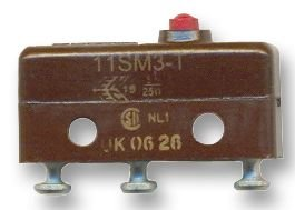 HONEYWELL S&C 11SM3-T MICRO SWITCH, PIN PLUNGER, SPDT, 5A 250V 11SM3-T-HONEYWELL