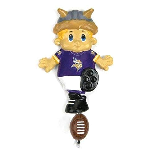 - SC Sports Minnesota Vikings NFL Mascot Wall Hook Polyresin Hanger Mounted Rack Hanging Sports Decor Metal Decorative Hooks