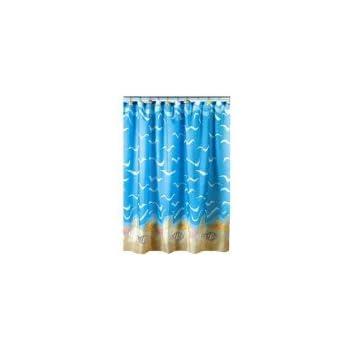 seashell sea shell beach shower curtain bathroom decor