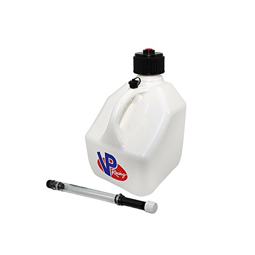 (VP 3 Gallon Square White Racing Utility Jug with Deluxe Filler Hose)