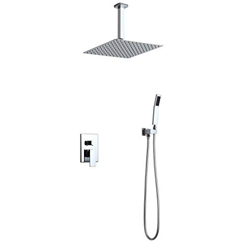 Homary Commercial Chrome Shower System with 12