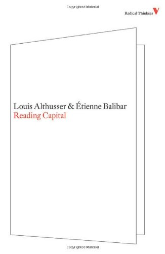 Reading Capital (Radical Thinkers)