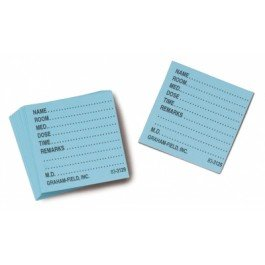 Grafco Medicine Cards -White - Box of 500