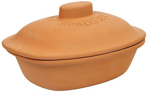 Romertopf by Reston Lloyd Trend Series Glazed Natural Clay Cooker, Large, 4.1-Quart