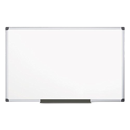 - Value Lacquered Steel Magnetic Dry Erase Board, 48 x 96, White, Aluminum Frame
