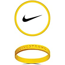 LiveStrong Live Strong Yellow Bracelet Wristband 2 Pack of Size Adult 8 inch L/xl