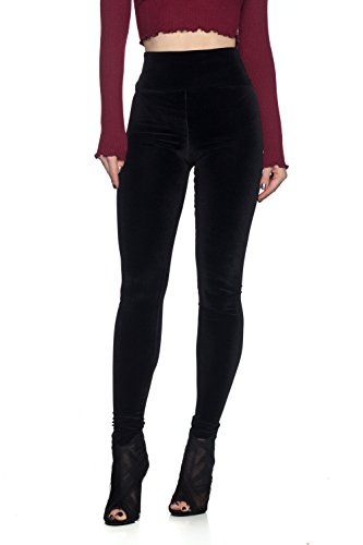 Plush Legging - Women's J2 Love Velvet High Waist Leggings, Medium, Plush Black