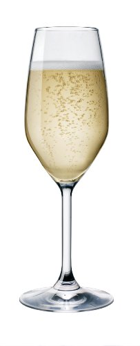 Bormioli Glass Rocco Glass Highball - Bormioli Rocco Restaurant Flute Glass, Set of 4