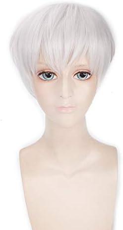 Tokyo Ghoul Ken Kaneki Peluca de cosplay corta recta para hombres ...
