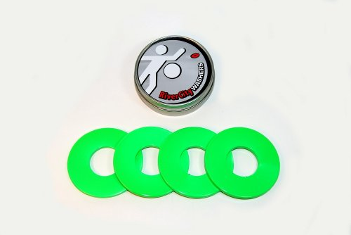 RiverCity Pitching Washers: (4) Neon Green 2.5 Inch Washers