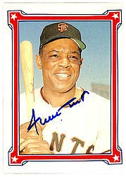 Willie Mays Signed 1984 Trading Card #75 San Francisco Giants - JSA Authentication - Baseball Collectible from Sports Collectibles Online