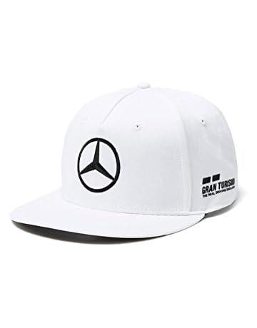 608c19a66a4f9 Mercedes AMG F1 Team Driver Puma Hamilton Flat Peak Gorra Blanco Oficial  2018
