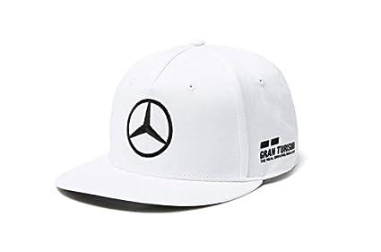 Mercedes AMG F1 Team Driver Puma Hamilton Flat Peak Gorra Blanco Oficial 2018